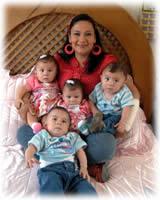 Mamá e hijos