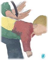 Maniobra de Heimlich: golpes en la espalda