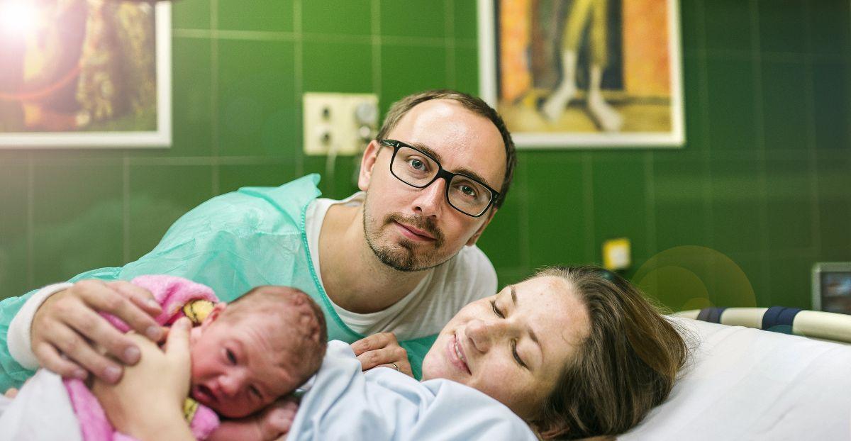 Padre madre y bebé