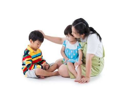Madre con hijos trastorno del lenguaje