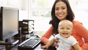 Mamás que compaginan casa y trabajo