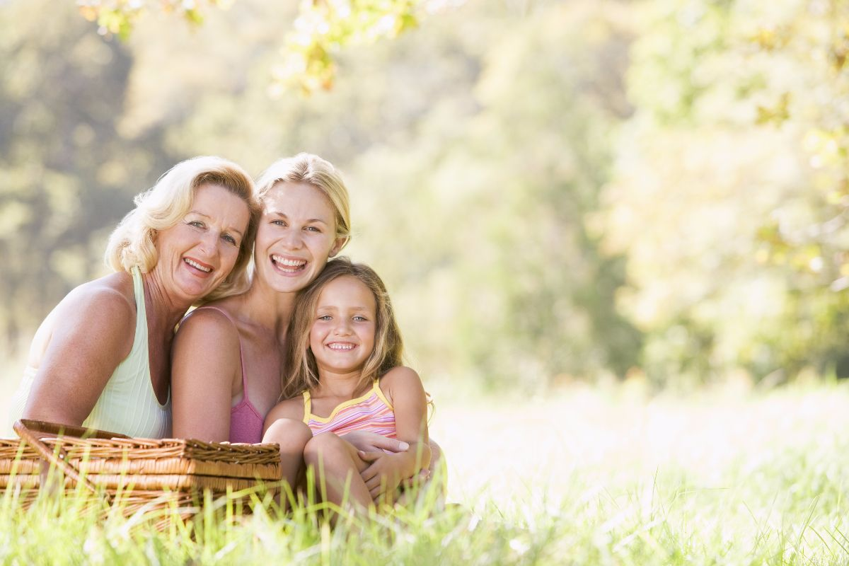 hija, madre y abuela