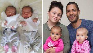 Dos semanas después de dar a luz, encontró algo extraño en sus gemelas