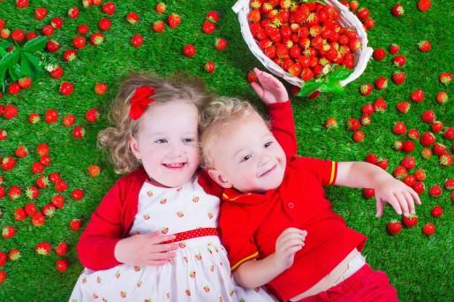 Beneficios de la frutilla en los niños