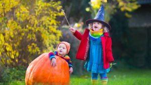 cestas de calabaza para Halloween