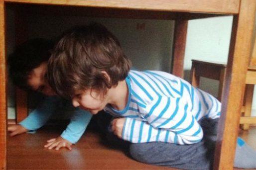 proteger a los niños de un terremoto