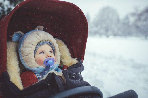 Pasear con el bebé en invierno