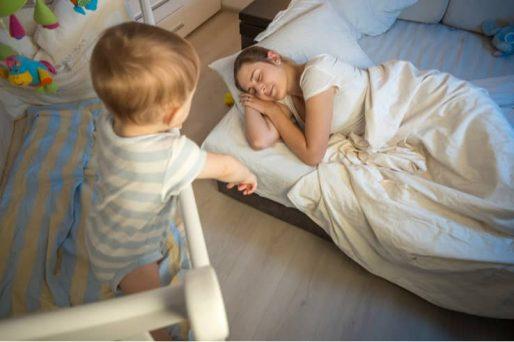 El bebé ya no duerme en su horario habitual