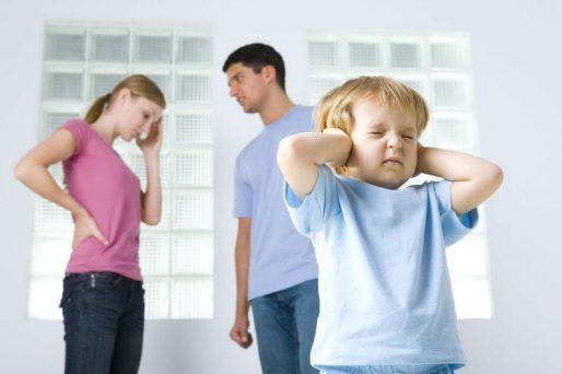 discutir delante de los niños